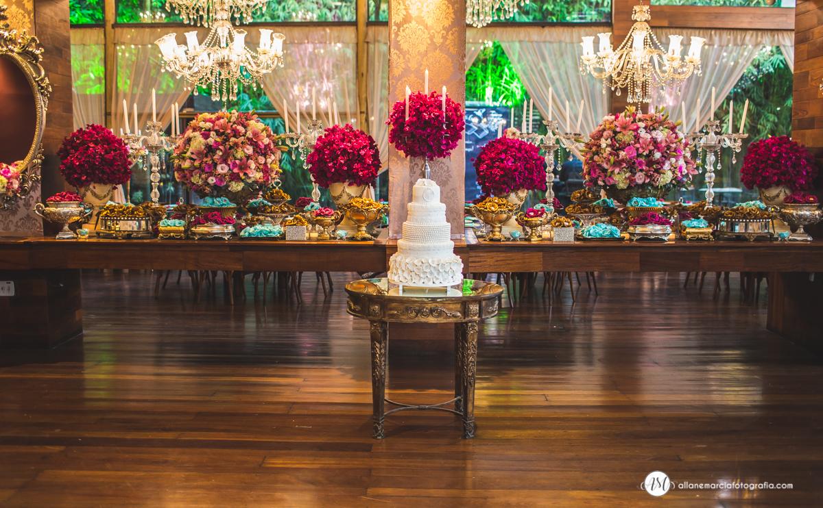 decoração de casamento com bolo