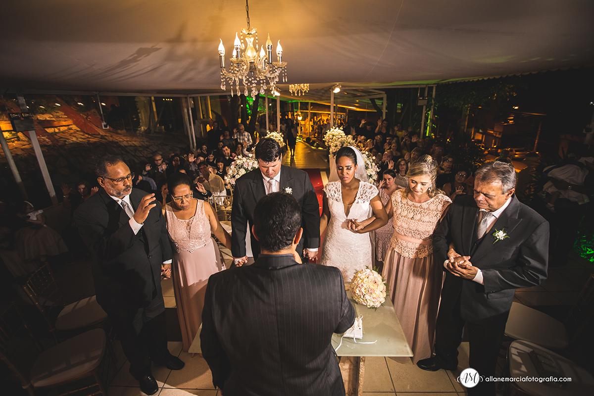 oração em casamento