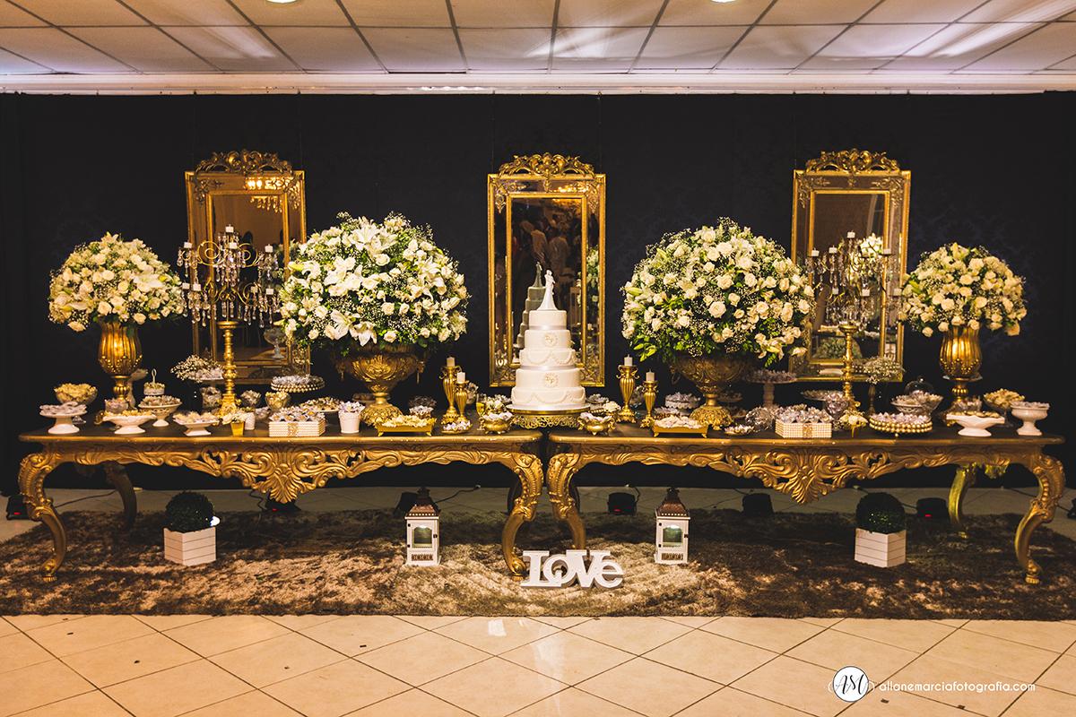mesa de bolo para casamento