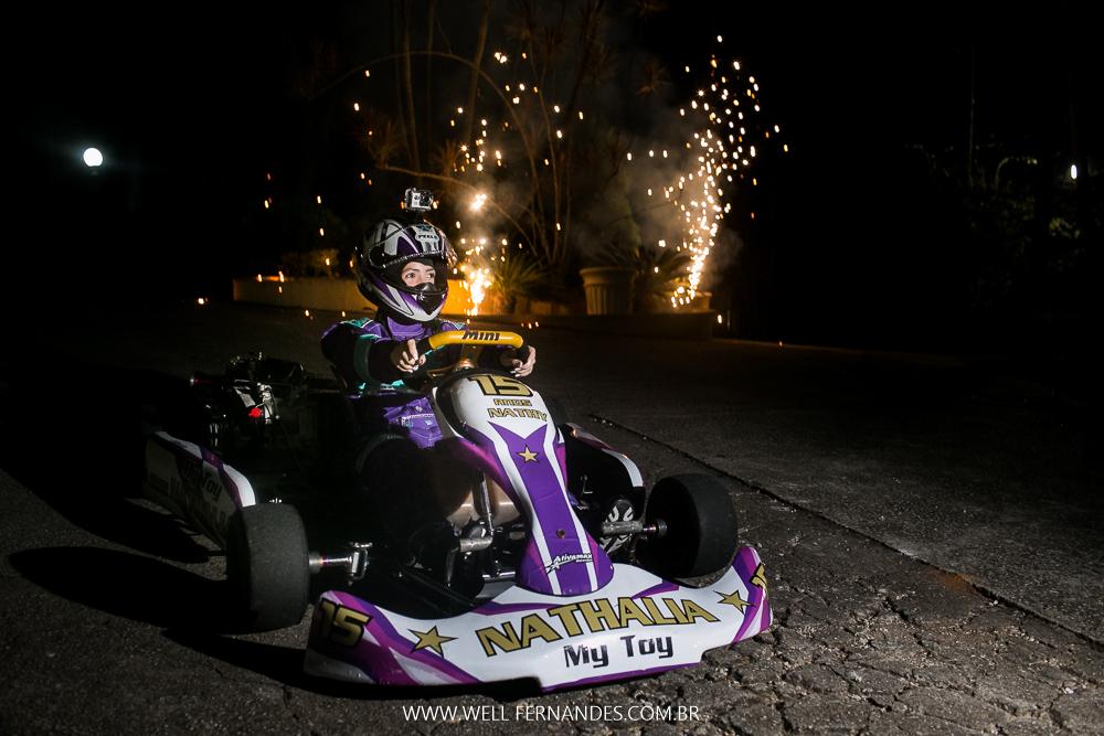 aniversario de 15 anos com kart