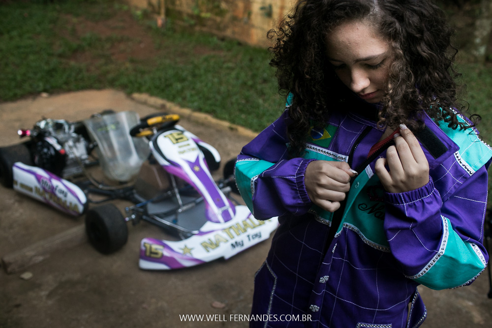 debutante entrou de kart