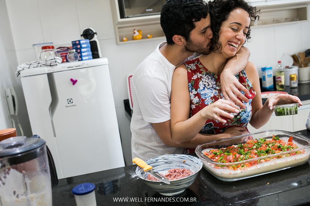amor na cozinha