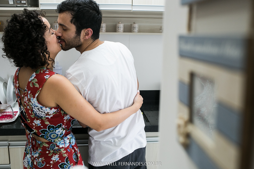 beijo na cozinha