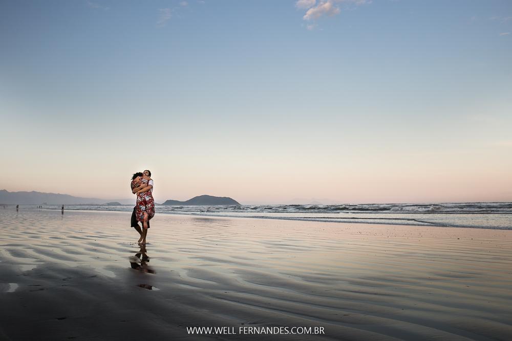 se amando na praia