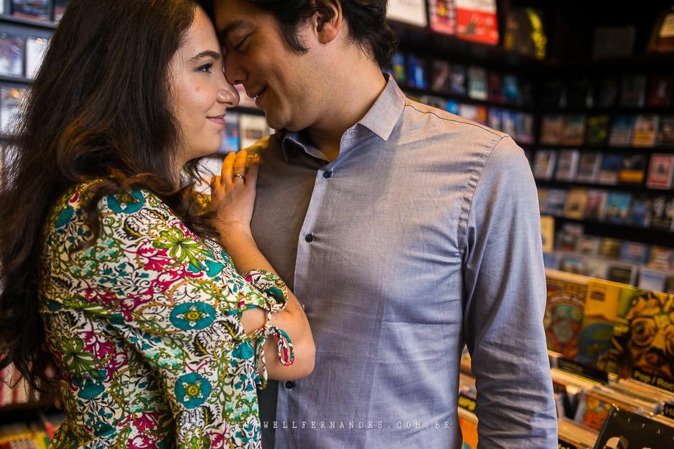 Ensaio de casal no Shopping