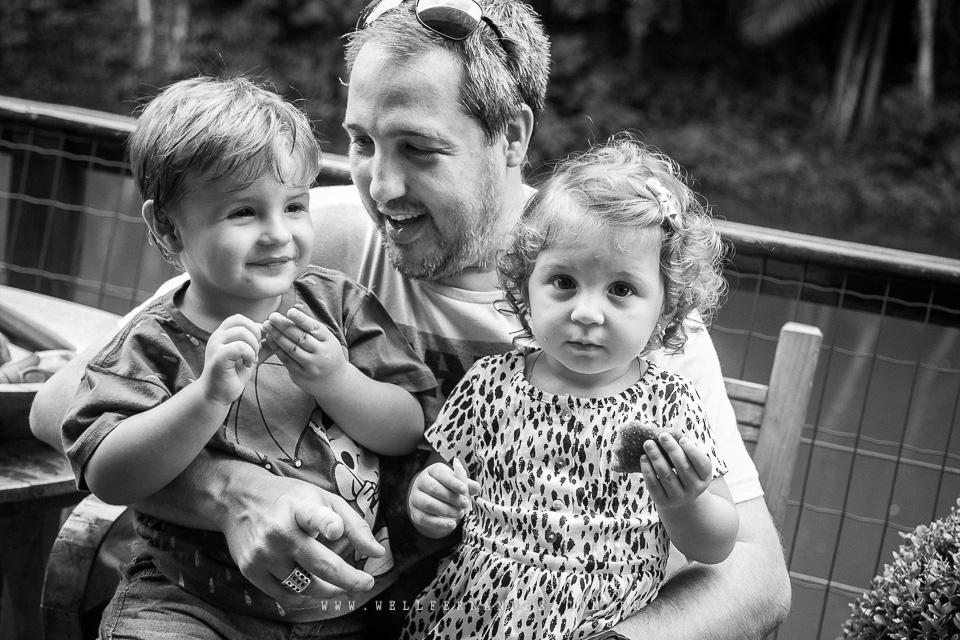 Fotografia de familia em preto e branco
