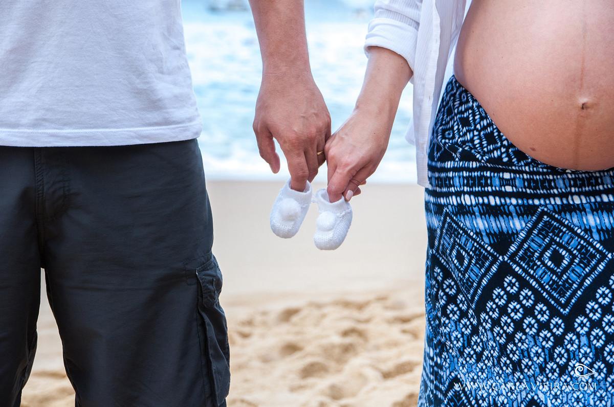 Gestante; ensaio de gestante; ensaio na praia; fotos na praia; Praia Vermelha