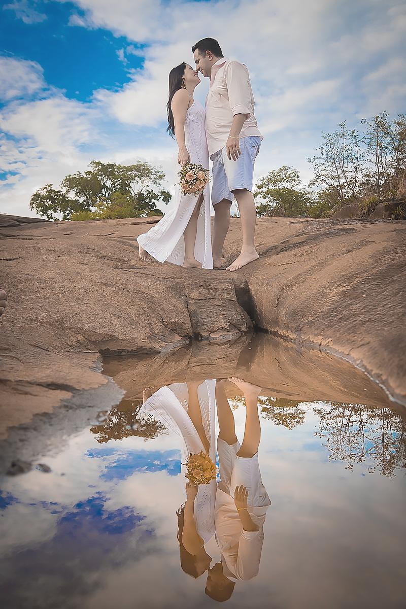 Ensaio cachoeira Pre Casamento Glênia e Fernando - Minaçu Goiás - Fotografia
