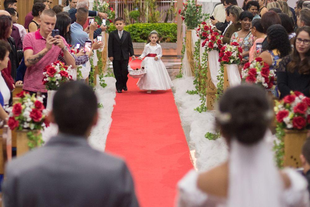 foto do casal de floristas entrando