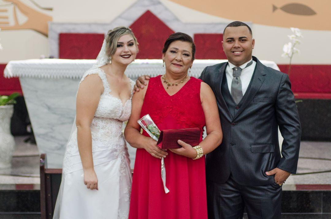 fotografia do casal com outra avó