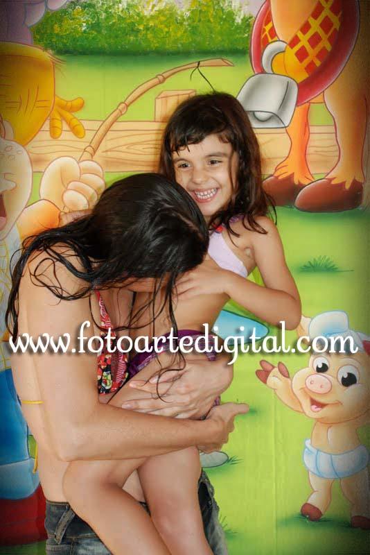 Foto de 4 Anos da Manuela e 3 anos do Igor