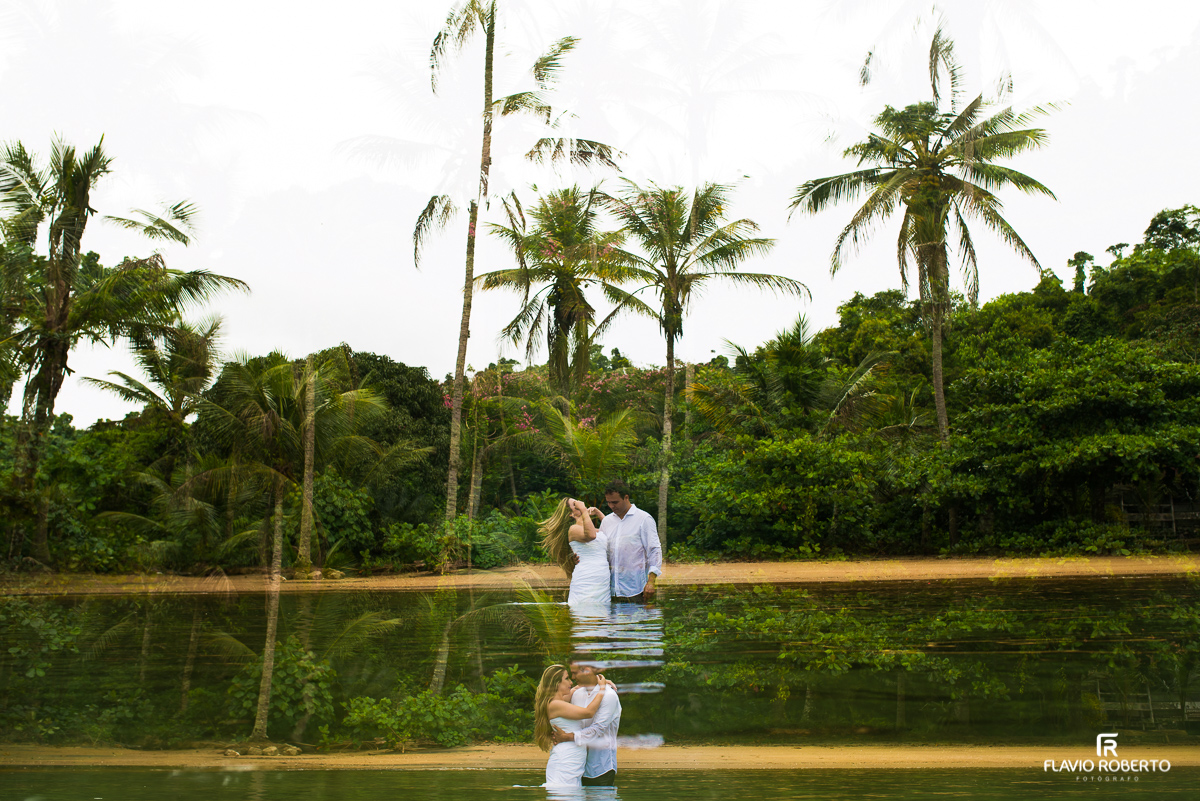 Trash the Dress na ilha deserta
