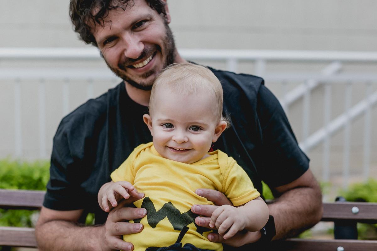 retrato com o papai no ensaio familia