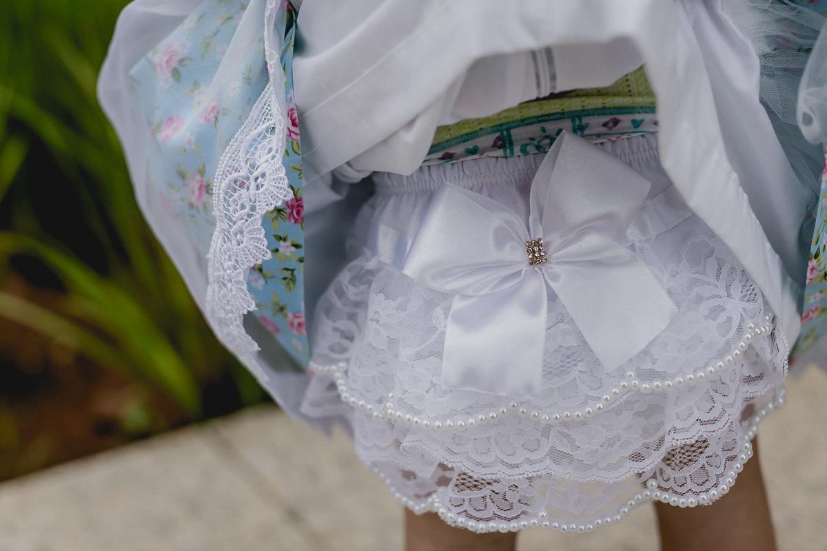 detalhes da calcinha de bebe linda
