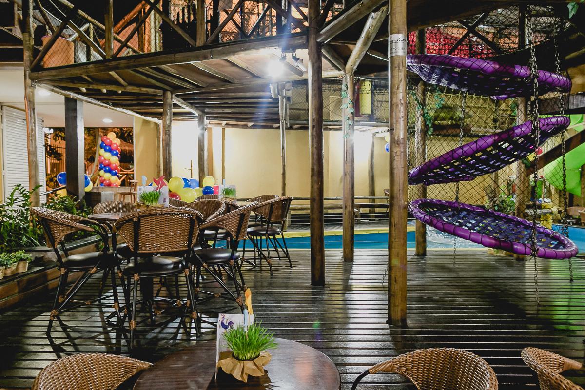 interior do buffet algazarra eco kids dentro do clube esperia em santana sp