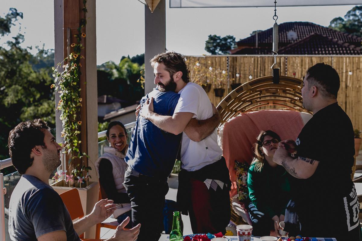 Recebendo os convidados no Residencial Euroville - Carapicuiba - SP