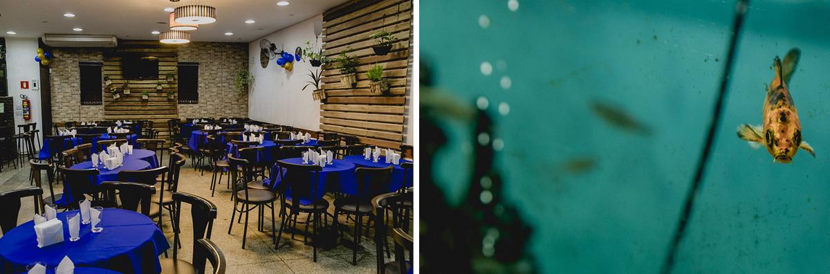 Interior do buffet viva la vita e aquario