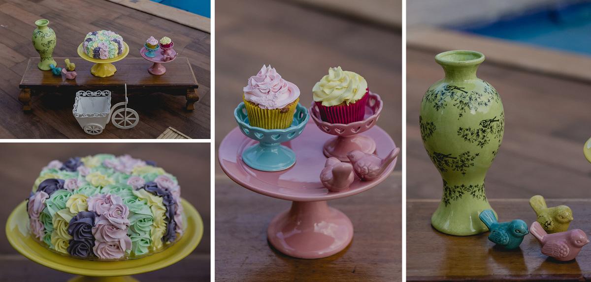 detalhes da decoração para o smash the cake
