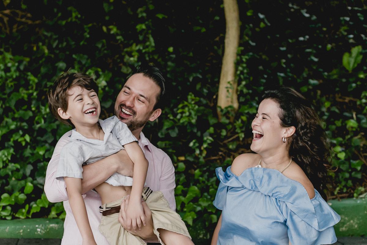 fotografias com a familia no inicio da festa