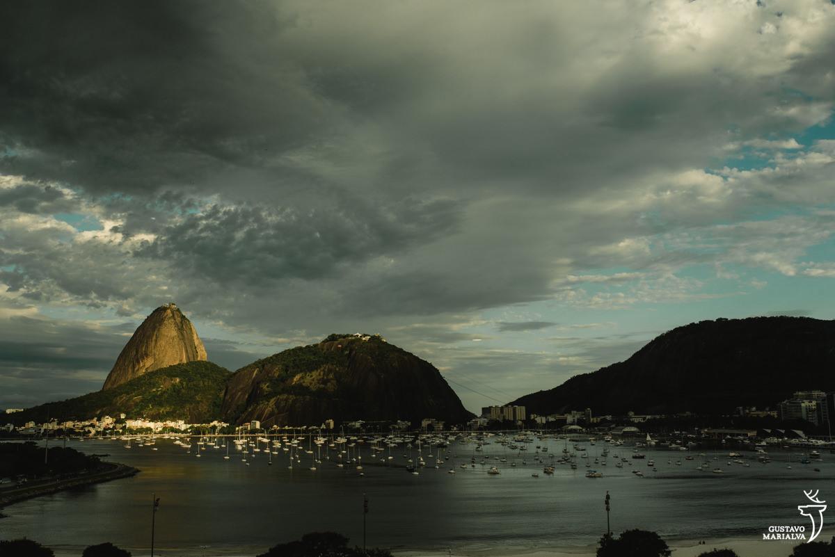 Paisagem do Pão de Açúcar e praia da botafogo do hotel Yoo2 Rio