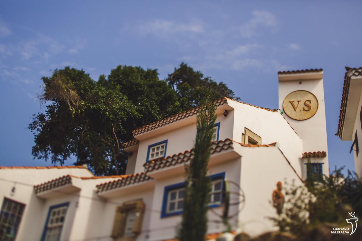 vista das casas do hotel vila da santa em búzios no rio de janeiroo