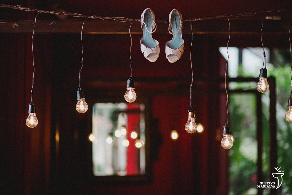 Retrato o sapato da noiva
