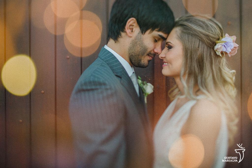 retrato dos noivos em dupla exposição