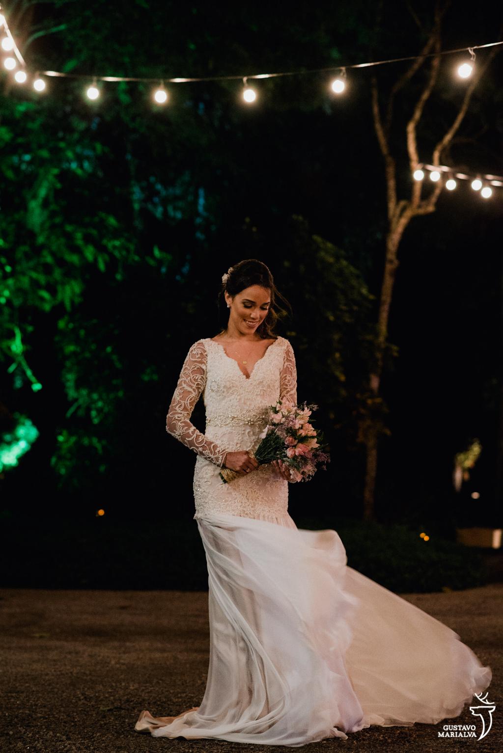 retrato da noiva no sitio meio do mato