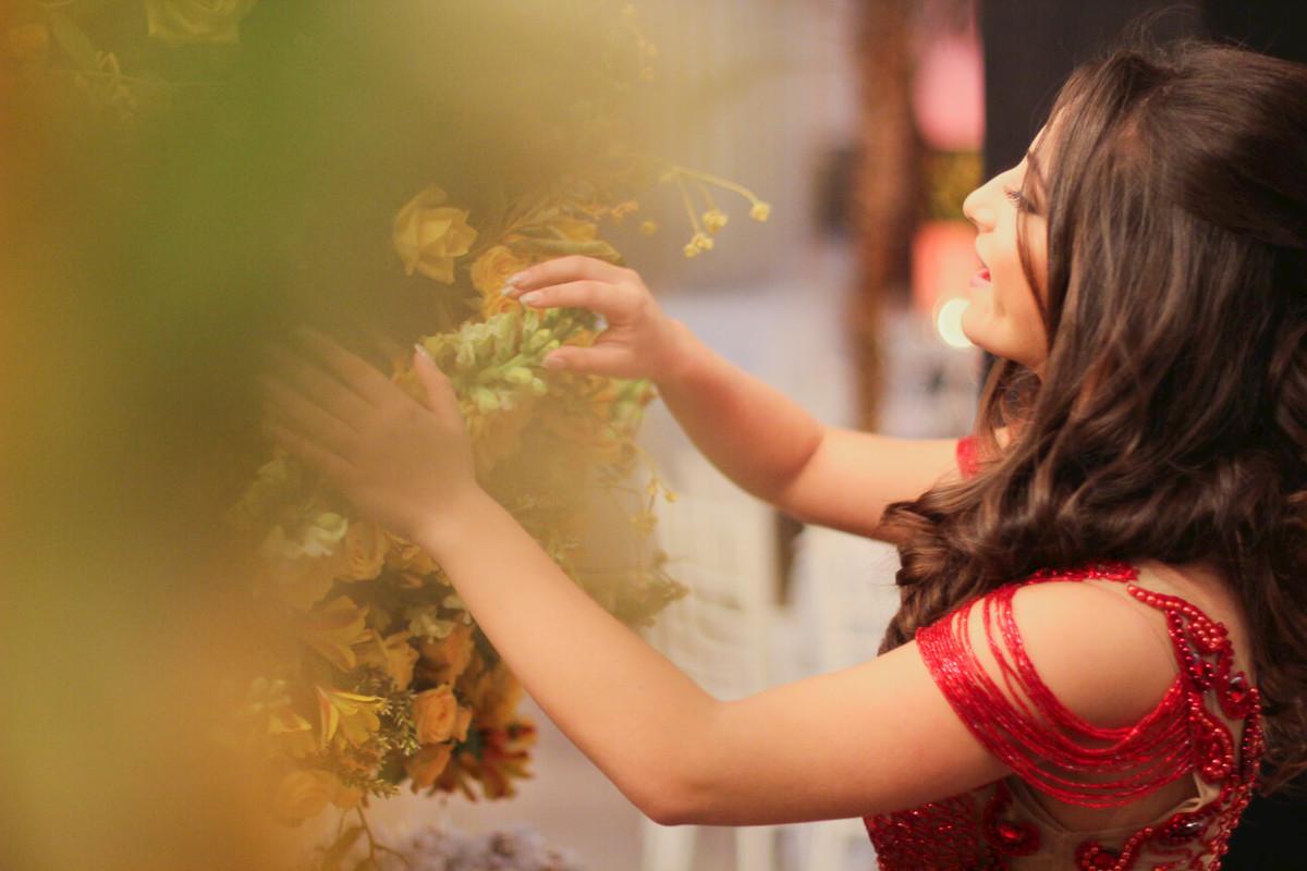 Flores lindas na Decoração de Gabriela