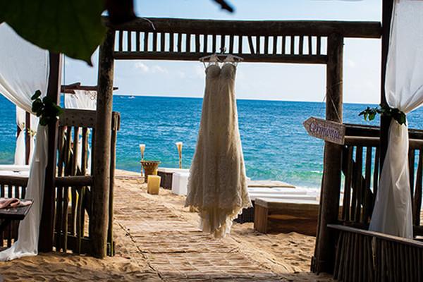 Fotografia de casamento de Fotografia de casamento na praia - Karen e Wandy