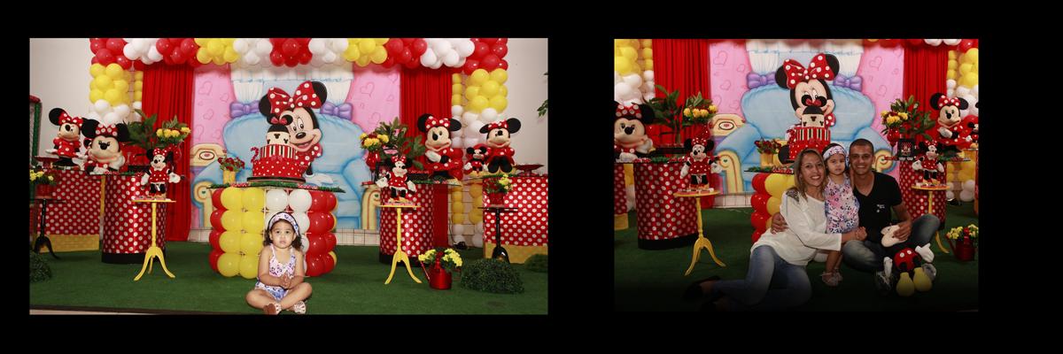crianca,roupa,decoracao,vermelho,festa infantil,minie,mesa, papai e mamae,mickey,baloes