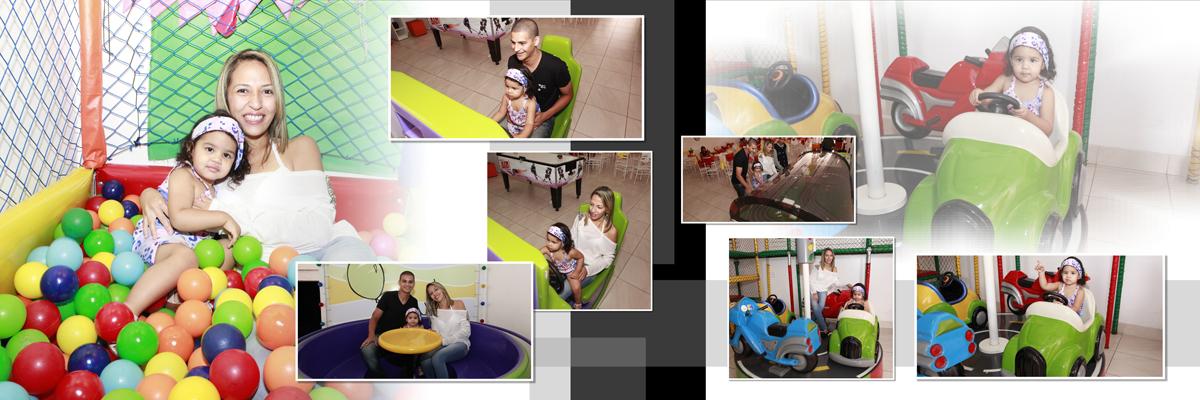 A piscina de bolinha estava muito colorida, tinha bolinhas vermelhas, azul, amarela, laranja, verde, branca, roxo e várias outras cinda aproveitou para brincar em carrinho, dando voltas nos brinquedos.
