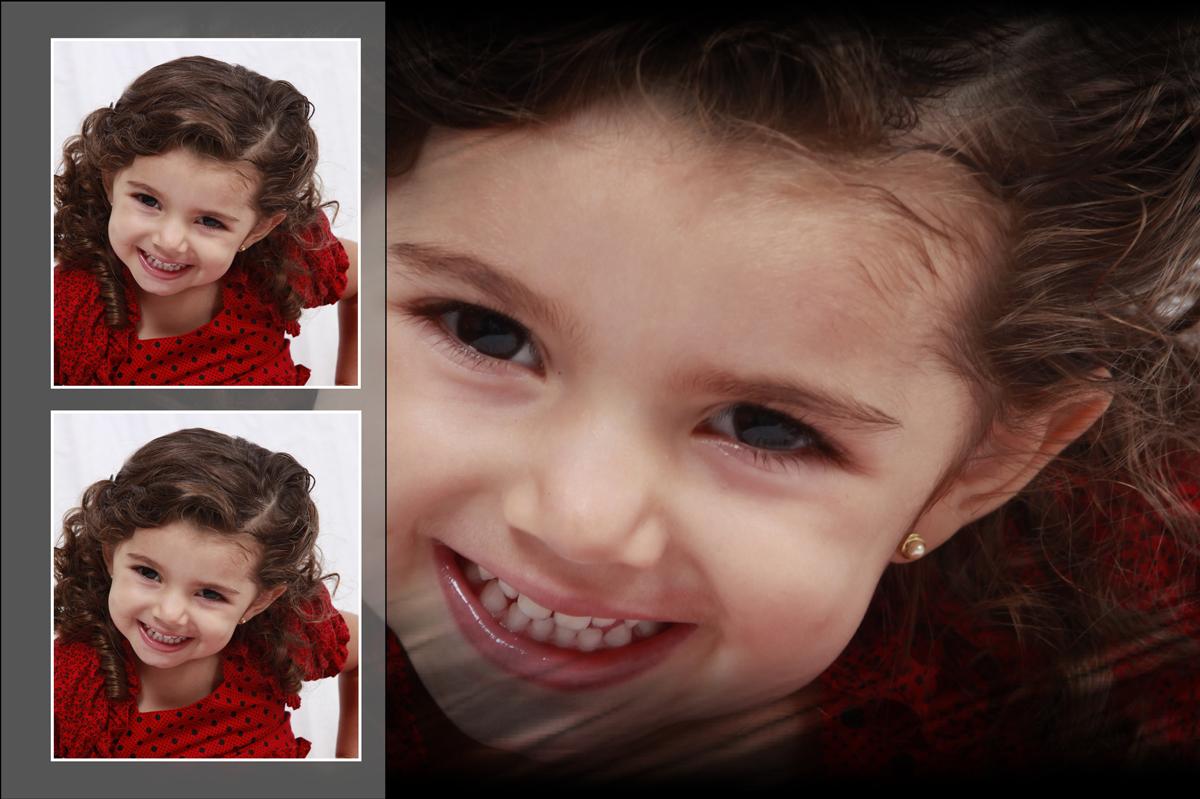 bastou a lente do fotografo nico apontar e essa crianca disparou a fazer poses e sorrisos, ja nasceu pronta para os flashs.