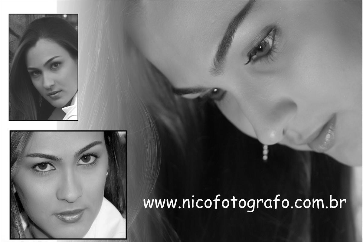 a foto esta em preto e branco, mas o olhar dessa modelo que foi registrado pelo fotografo nico em seu estudio de fotografia, pode capturar varias imagens e angulos diferentes para compor o seu ensaio fotografico e montar o book do seus sonhos.