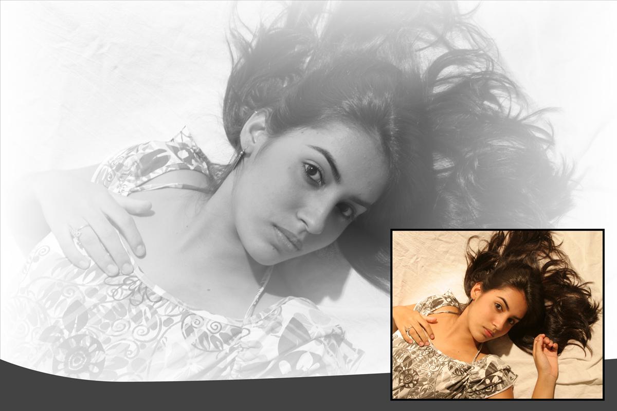 em seu estudio fotografico nico foi desenhando com a modelo o ensaio fotografico. parabens. lindas fotos.