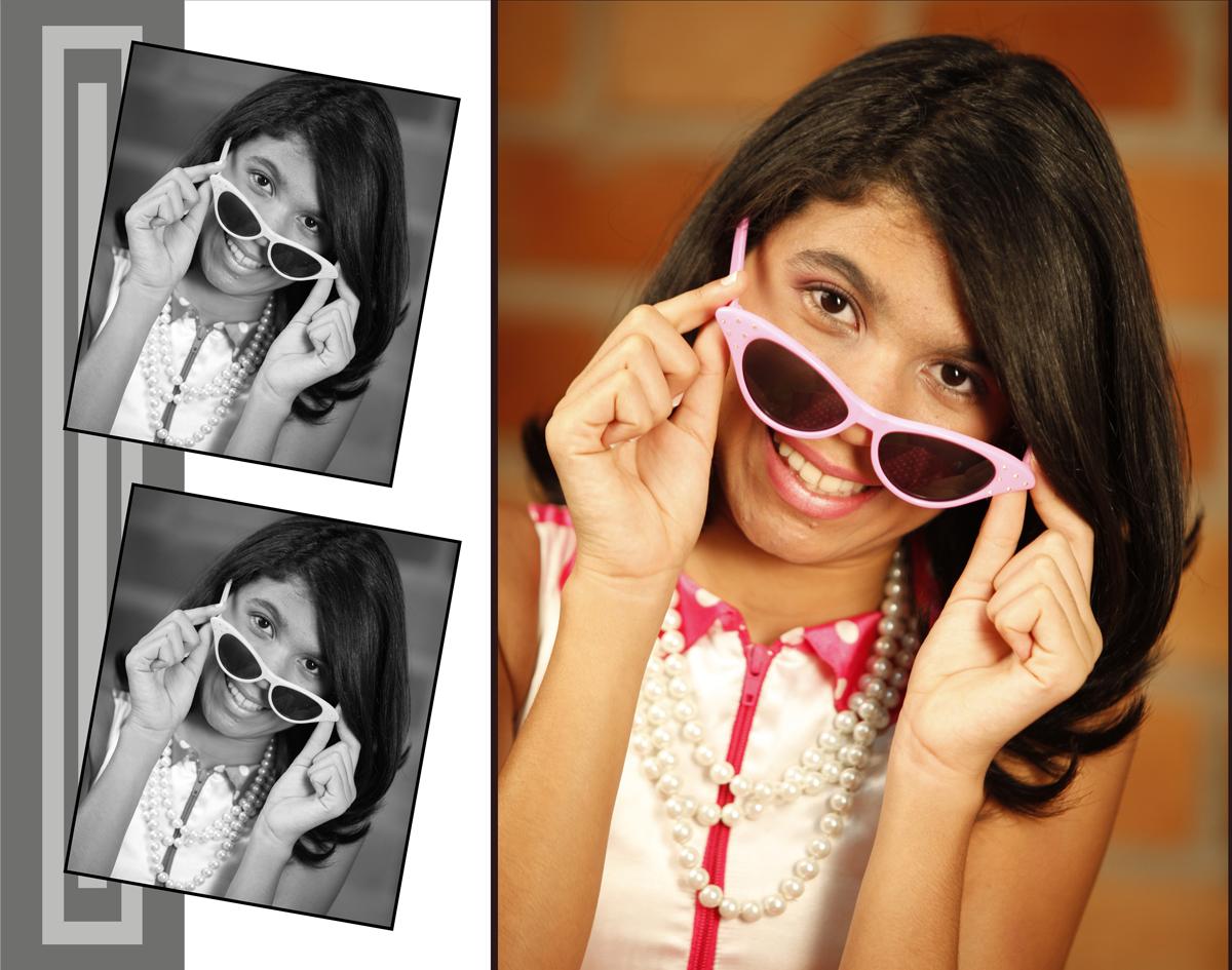 nao basta usar oculos tem que ter estilo e sendo assim essa menina sobra poses registradas pelo nico fotografo em seu estudio