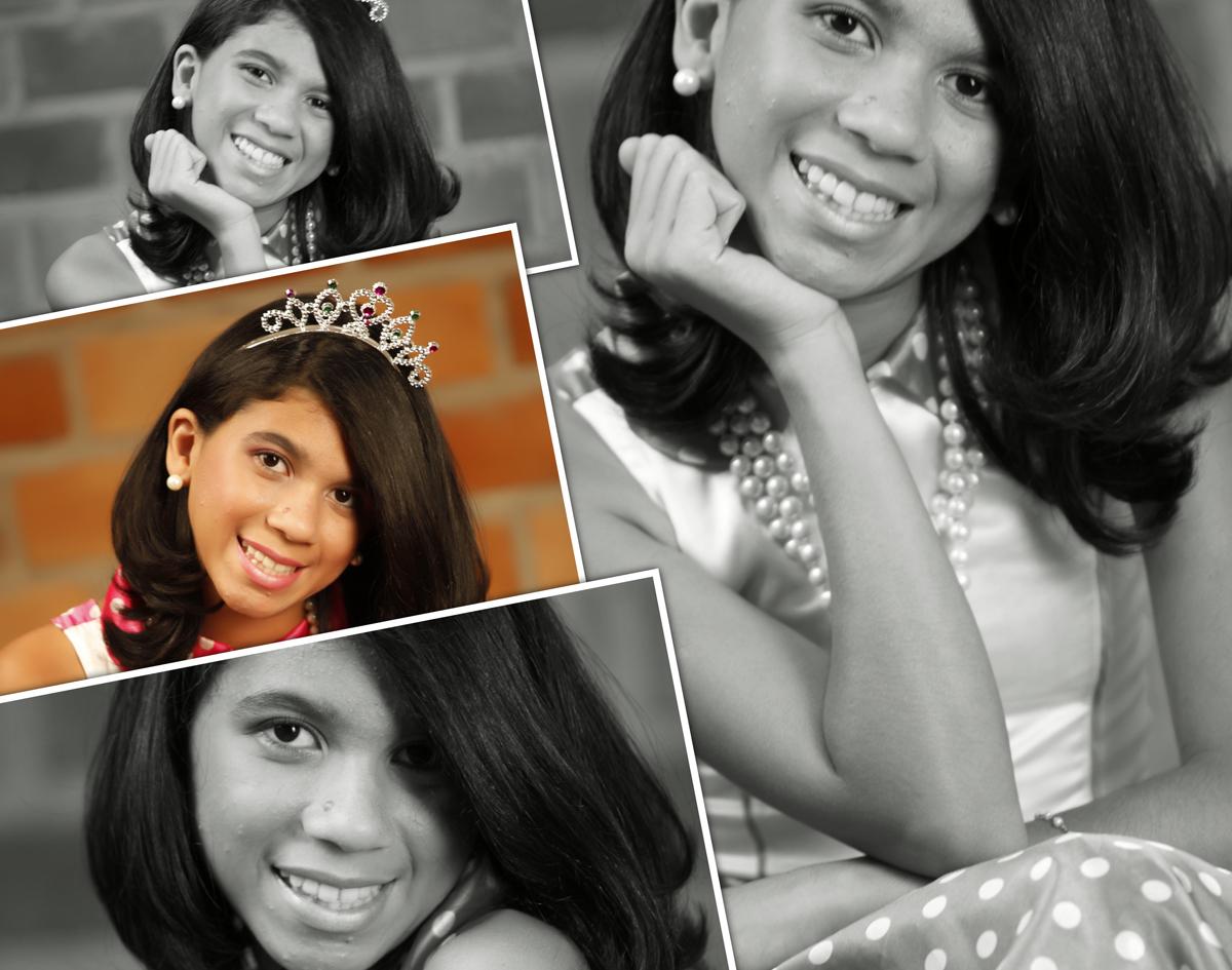 pode ser colorido ou preto e branco, nao importa a alegria de princesa com essa coroa, com esse colar e um vestido sensacional nico studio fotografico aproveitou cada clic.