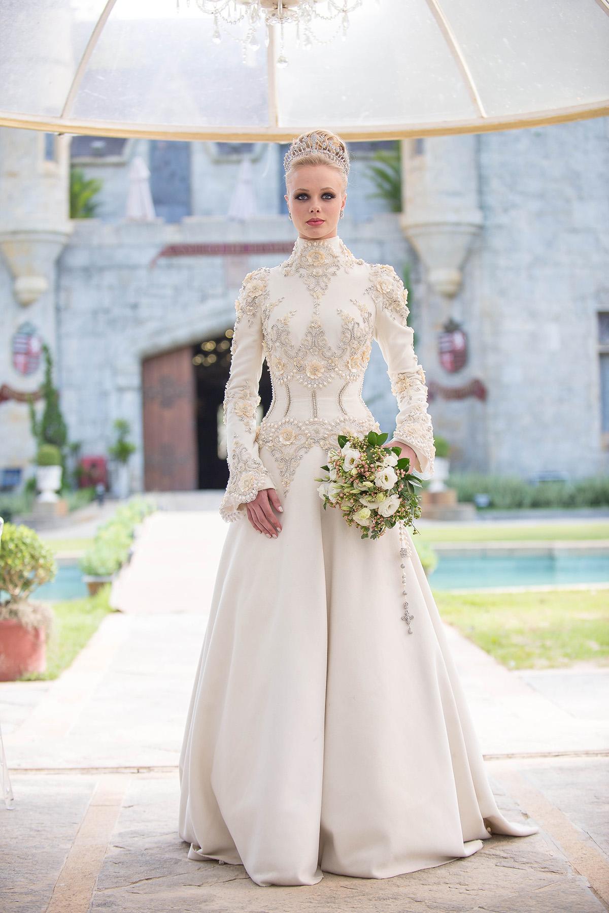 noiva vestido buquê castelo de itaipava