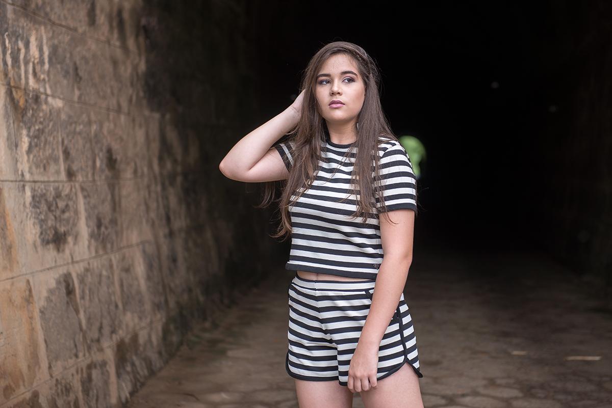 debutante no túnel