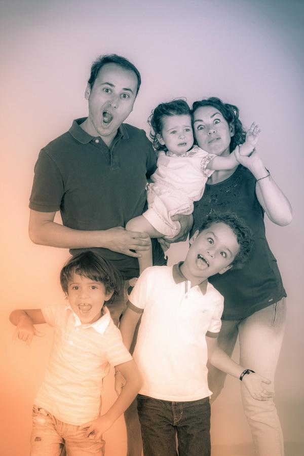 fotografia de estúdio família louca