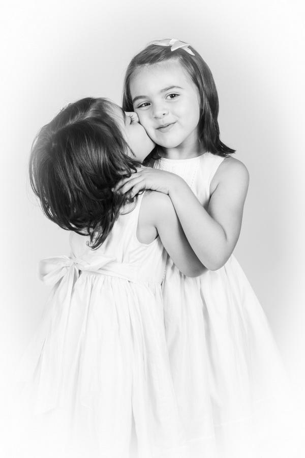 fotografia de estúdio irmãs