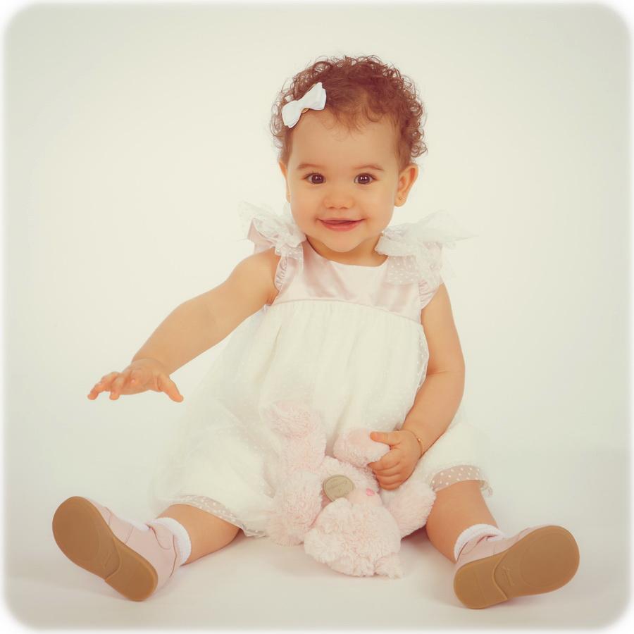 fotografia de estúdio menina batizado