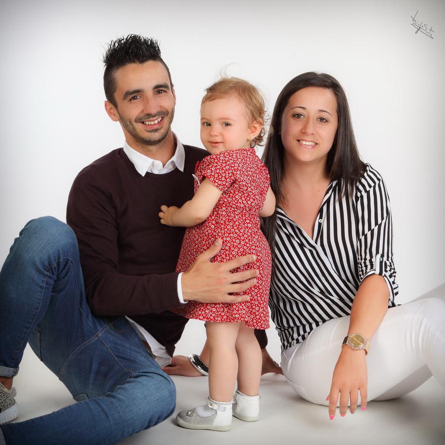 fotografia de estúdio familia