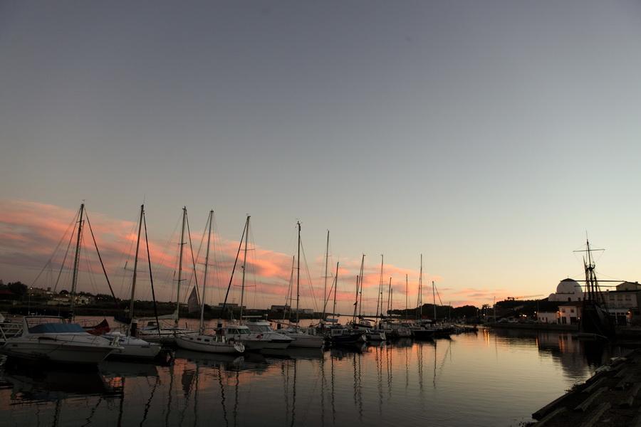 Por do Sol com barcos - Vila do Conde