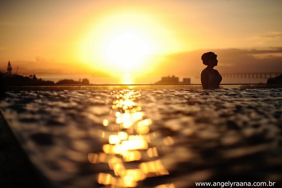 por do sol no making off de noiva realizado no hotel H na praia das flechas