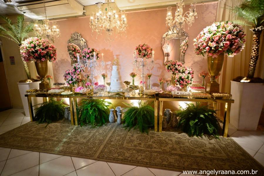 Decoração de casamento realizado no espaço de festa 1001 em São Gonçalo