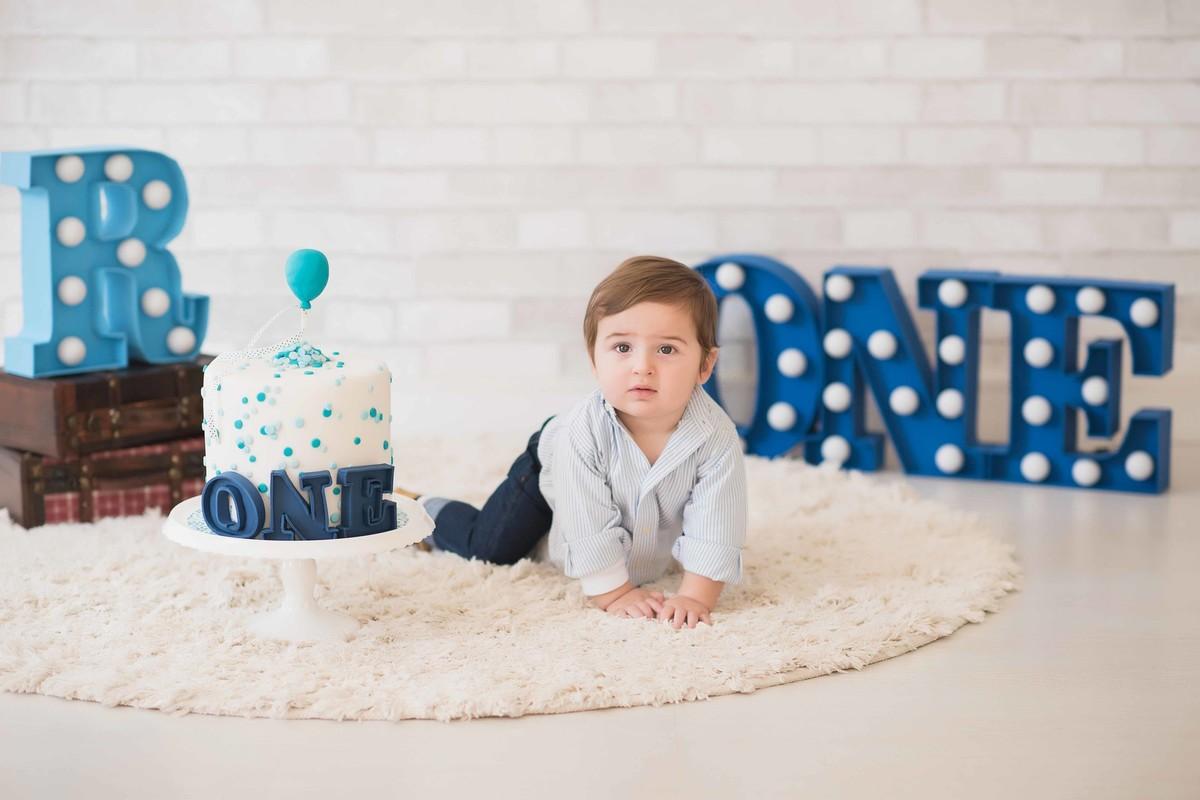 Ensaio LIFE {Birthday} - Estúdio - Smash the Cake - Aniversário - 1 ano - estúdio