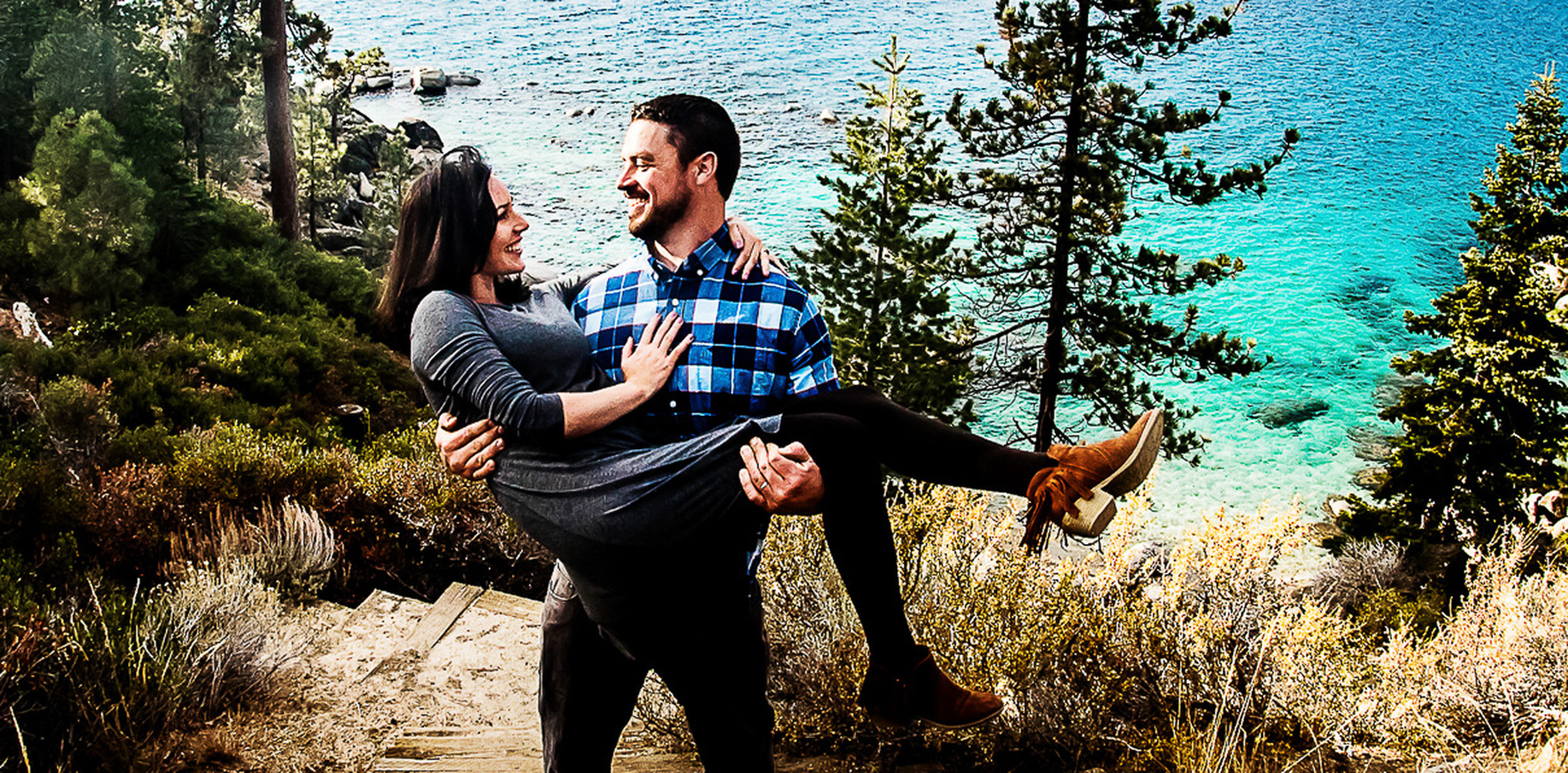 Pre Wedding de Mari e Sam em Lake Tahoe - Nevada - EUA