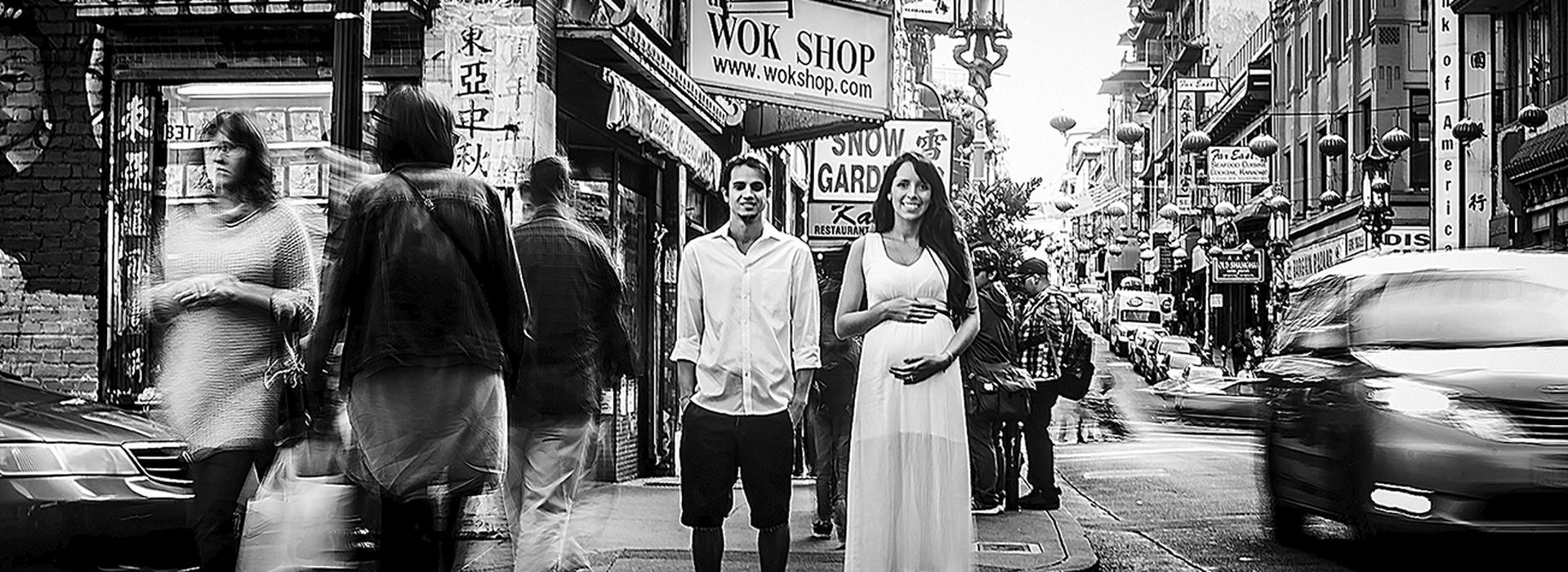 Pregnant de Marina + Hugo = Lorenzo em Chinatown - San Francisco - Califórnia - EUA
