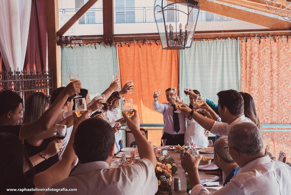 Brinde aos recem casados